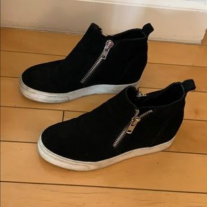 Steve Madden Zip Wedgie wedge Sneaker 6.5